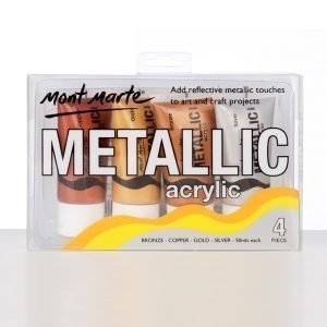 Mont Marte Metallic Acrylic 4 Colors Set