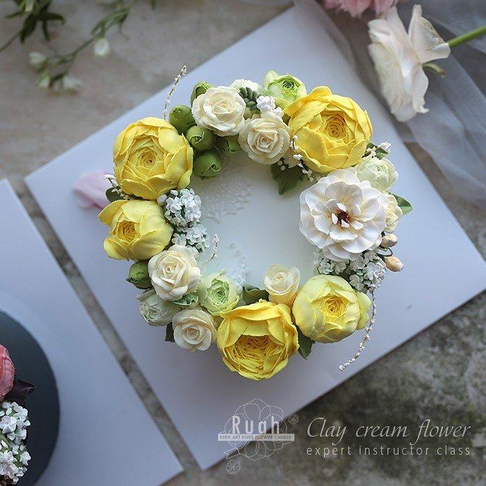 KHFA Clay Flower 韓式粘土奶油裱花 奶油裱花 粘土裱花 韓式裱花